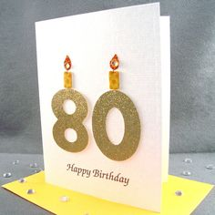 80th Birthday Card - Milestone Birthday -  via Etsy.