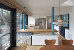 Modern Kitchen with Aga by WTArchitecture - their project at Hope Terrace, Edinburgh