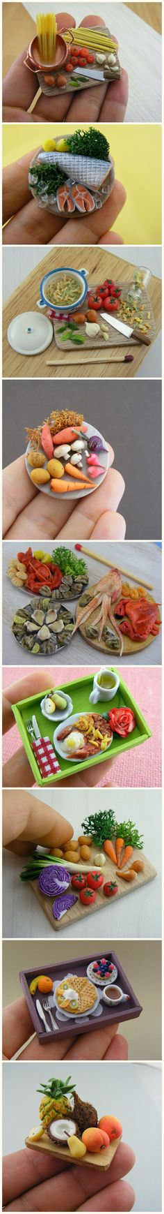 Mouth-Watering Miniature Food Sculptures by Shay Aaron