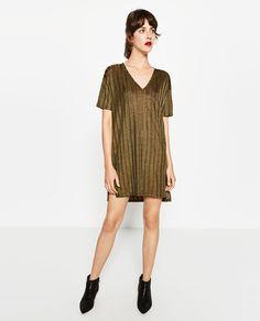 SHINY RIBBED TUNIC-DRESSES-WOMAN-SALE   ZARA United States