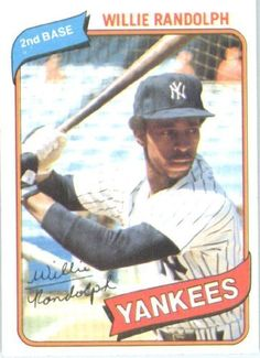 1980 Topps # 460 Willie Randolph New York Yankees Baseball Card by Topps. $2.95. 1980 Topps #460 - Willie Randolph