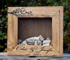 Personalized Cork Holder Frame