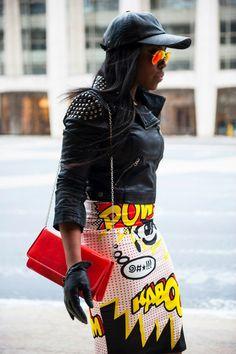 Retro skirt #Lichtenstein #PopArt
