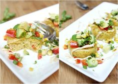 The Lovely Cupboard: Grilled Polenta with Avocado Relish