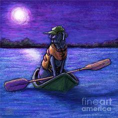 Purple Night Print by Kathleen Harte Gilsenan