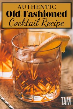 Manly Cocktails: 6 Mixed Drinks Every Guy Should Try At Least Once - Be like James Bond and whip yourself up the grandfather of cocktails, The Old Fashioned. Check out our favorite recipe. Source by SavoringTheGood - Manly Cocktails, Whiskey Cocktails, Classic Cocktails, Cocktail Drinks, Fun Drinks, Bourbon Drinks, Popular Mixed Drinks, Easy Mixed Drinks, Blended Drinks