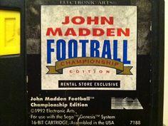 Football Video Games, Nfl Football, Ea Sports, Sports Games, Madden Nfl, Electronic Art, Sega Genesis, Baseball Cards, Sports