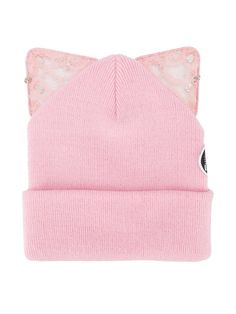 Silver Spoon Attire Bad Kitty Embellished Beanie With Cat Ears 7cc67ae14099