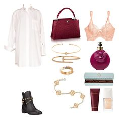 """Senza titolo #1168"" by txmila on Polyvore featuring moda, Chanel, See by Chloé, L'Agent By Agent Provocateur, Valentino, Van Cleef & Arpels, Christian Dior e Dolce&Gabbana"