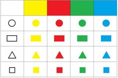 Math Magic, Color Shapes, Kids Education, Montessori, Activities For Kids, Preschool, Chart, Teaching, Pattern
