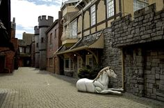 """Fantasy Gardens in Richmond, BC, Canada - themed gardens with a few of the classic """"zones"""" - wild west, faux medieval etc. And at least 3 windmills."""