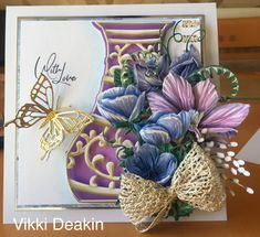 Tattered Lace Cards, Carnations, Hobbies And Crafts, Art Studios, Floral Arrangements, Projects To Try, Shabby Chic, Card Making, Bouquet