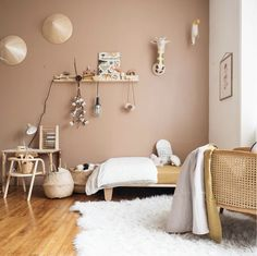 Kid room decor - my scandinavian home A Charming French Family Home Full of Inspiring Details Home Bedroom, Bedroom Furniture, Bedroom Decor, Wood Furniture, Kids Bedroom Paint, Bedroom Ideas, Brown Walls, Scandinavian Home, Kid Spaces
