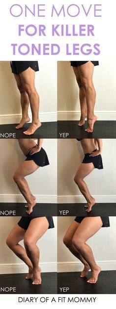 Tone Your Entire Legs With This ONE Move! (Diary of a Fit Mommy) Tone Your Entire Legs With This ONE Move! Leg Workout At Home, Mommy Workout, Fitness Workout For Women, At Home Workouts, Pregnancy Leg Workouts, Toned Legs Workout, Toning Legs, Calf Exercises, Exercises To Tone Legs