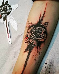roses tattoo trash polka tattoo The Effective Pictures We Offer You About growing Rose A quality picture can tell you many things. Rose Tattoos For Men, Black Tattoos, Tattoos For Guys, Rose Tattoo Man, Pretty Tattoos, Beautiful Tattoos, Cool Tattoos, Forearm Tattoos, Sleeve Tattoos