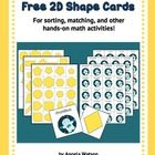 These free geometry cards can be used as math manipulatives in your math centers or workstations. They're designed to be used with the following pr...