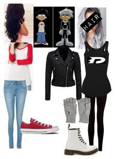 """Costume #16 Danny phantom"" by carolinamedrano ❤ liked on Polyvore featuring Forever New, Dr. Martens, Converse, Calypso St. Barth and Isabel Marant"