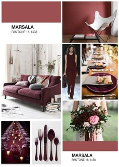 #marsala #coloroftheyear #2015 #diseño #design #colordelaño #arquitectura #interiores #furniture #mobiliario #wedding
