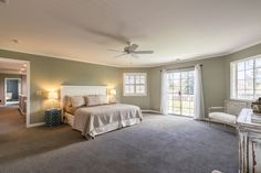 Large spacious master suite with balcony