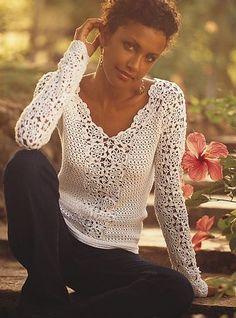 Fabulous Crochet a Little Black Crochet Dress Ideas. Georgeous Crochet a Little Black Crochet Dress Ideas. Cardigan Au Crochet, Gilet Crochet, Crochet Shirt, Crochet Jacket, Knit Crochet, Crochet Tops, Chrochet, Crochet Crafts, Pull Crochet