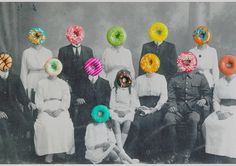 Donut Family by Sercin Cabuk  Surrealism Collage