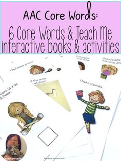 A bundle of AAC core words teaching activities for early core words. Interactive books and fun activities bring the context to speech therapy. Teaching Activities, Teaching Resources, Teaching Ideas, Interactive Books, Teaching Special Education, Reading Comprehension Skills, Curriculum Planning, School Lessons, Speech And Language