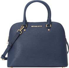 MICHAEL Michael Kors Cindy Large Dome Satchel Navy - via eBags.com!