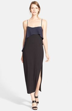 Elizabeth and James 'Tulsa' Contrast Flounce Jersey Dress available at #Nordstrom