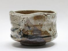 I found this really awesome wood-fired-shino-glazed-tea-bowl