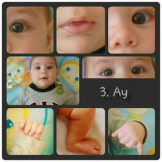 3.th month baby photo ,baby parts collage,baby photo collage, 3 aylık bebek resimleri