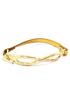 Gold on Gold Infinity Bracelet
