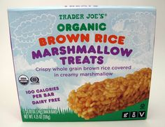 Organic Brown Rice Marshmallow Treats are weirdly delicious!