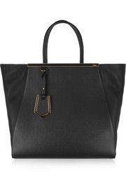 Fendi2Jours large textured-leather shopper
