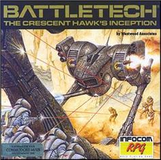 """""""Battletech: The Cresent Hawk's Inception"""" was another great Infocom game, though not one of their text-based adventures.  It blended RPG with mech-to-mech combat based on the Battletech tabletop game."""