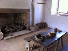 Southampton Medieval Merchants House kitchen. Southhampton, England