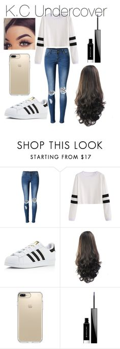 """K.C Cooper"" by mermicornreagan22 ❤ liked on Polyvore featuring WithChic, adidas, Speck and Givenchy"