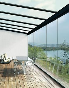 Enjoy the sun during the day and provide shelter from the evening wind with winter garden sliding panels