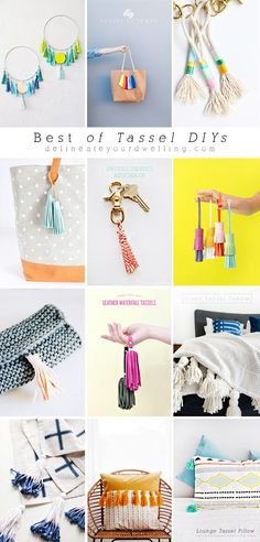 Check out the Best of Tassel DIYs!! Delineate Your Dwelling