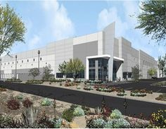 Rendering of Lincoln Logistics 40 Warehouse Design, Industrial Park, How To Buy Land, Lincoln, Acre, Multi Story Building, Real Estate, Architecture, News