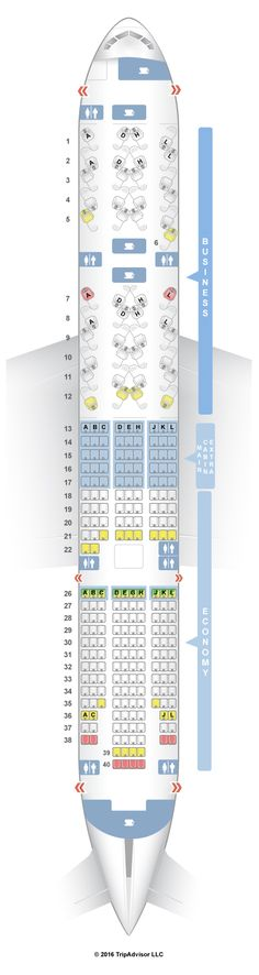 SeatGuru Seat Map American Airlines Boeing 777-200 (777) V2