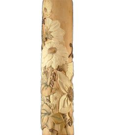 Custom Carved rolling pin featuring daisies