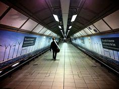 London Heathrow - heading to the Heathrow Express. #london #uk #tunnels
