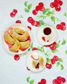 sour cherry pierogie
