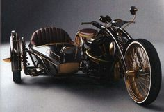 #Steampunk concept || #steambike #motorcycle #sidecar