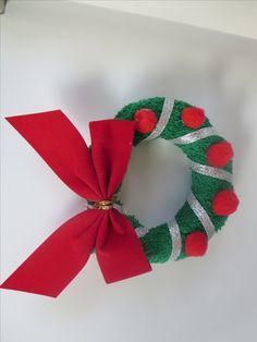 washcloth folding craft wreath