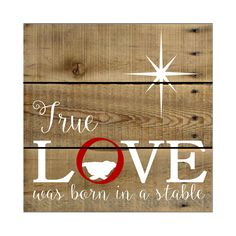 True Love Was Born in a Stable- wood sign/pallet/christmas sign True Love Was Born in a Stable wood by Fillintheblankspaces signs Pallet Christmas, Christmas Signs, Rustic Christmas, Christmas Projects, All Things Christmas, Holiday Crafts, Christmas Holidays, Christmas Decorations, Christmas Ornaments
