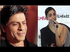 Alia Bhatt's reaction on Shahrukh Khan's compliment.