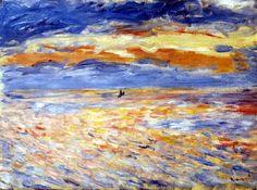 Pierre Auguste Renoir - Puesta del sol en el mar.