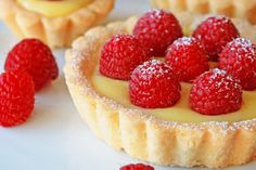 Buttery and crumbly shortbread tartlet shells filled with smooth and refreshing lemon curd.