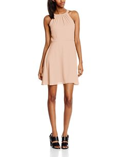 New Look Damen Ruched Neck Crepe Kleid Dresses Uk, Dresses For Work, New Look Women, Crepe Dress, New Dress, Nude, Beige, Outfits, Shopping